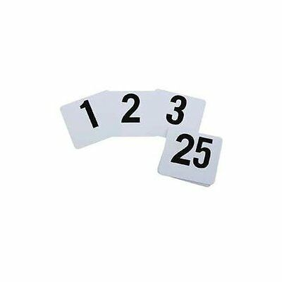 Royal Industries Number 1-100 Plastic Number Card Set, Plastic, 4 by 4, White Ba