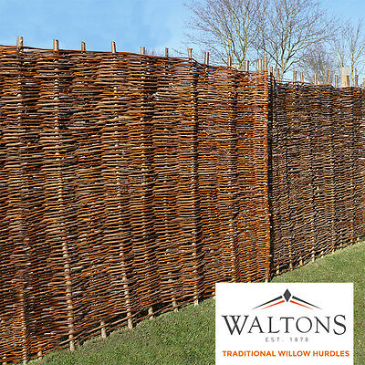 Willow Hurdle Decorative Woven Garden Fencing Panel 6ft/5ft/4½ft/4ft/3ft x 6ft