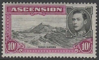 ASCENSION KGVI 1938 Issue 10s Scott 49a  SG47 perf 13.5 Lightly Hinged cv £110