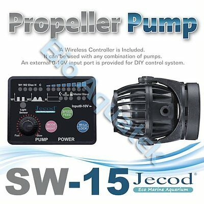 Jecod SW-15 2017 Aquarium Wave Maker Powerhead & Wireless Controller 0-10v Input