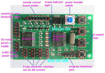Micro 2/4 Phase Stepper Motor Driver Control Board Programmable Drive Controller