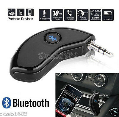 Wireless Bluetooth Hands-free Adapters 3.5mm AUX Audio Stereo Car Music A2DP Mic