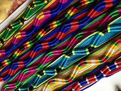 #3592 Wholesale Lot 50 Peruvian Friendship Bracelet Artisan Quality Jewelry Pack