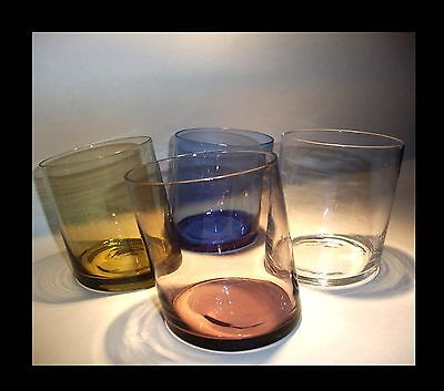 Vintage MODERNIST whisky TUMBLERS glasses cocktail novelty set space age retro
