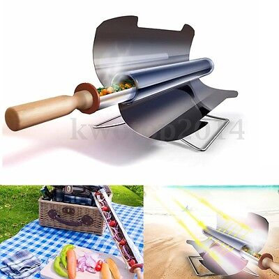 Portable Folding Smokeless Stove Solar Cooker Oven Sun Cooking Roast BBQ Grill