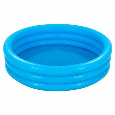 Intex Inflatable Crystal Blue 3 Ring Paddling Swimming Kids Pool Garden Play