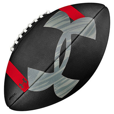 Under Armour UA 295 Official Size Black Gripskin Football - Age 14 & Up