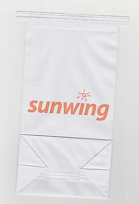 2x Sunwing Airlines 2015 Boeing 737-800 Sick Bag Canada