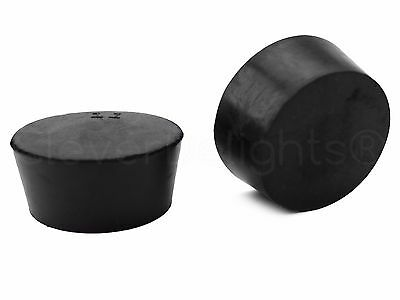 3 Pack - Solid Rubber Stoppers - Size 11 - 56mm x 46mm x 34mm Long - Lab #11
