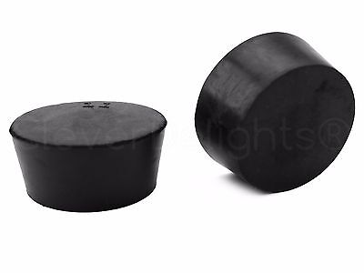 6 Pack - Solid Rubber Stoppers - Size 11 - 56mm x 46mm x 34mm Long - Lab #11