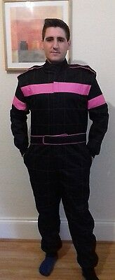 Go Kart Cordura Suit - HOT PINK - BLACK - Mega Sale Unbeatable Price