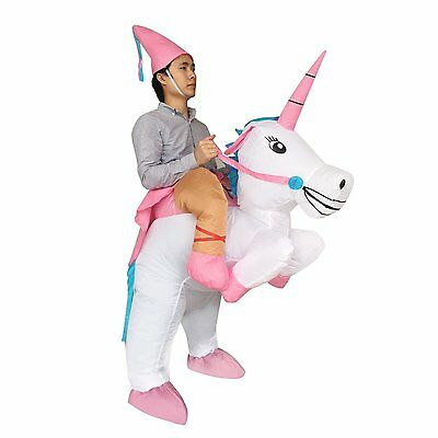 Adult Inflatable Ride Unicorn Party Dress Halloween Easter Suit Fancy Costume