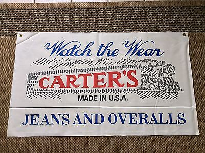 H.W. Carter Med. Weight CANVAS Store DISPLAY BANNER Jeans Work Wear Lebanon, NH