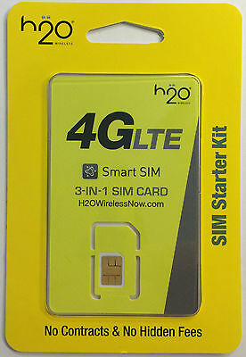 H20 4G LTE $30 Bundle SimCard(Nano, Micro, Standard) (1st month included)