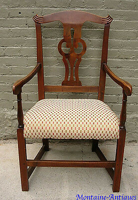 Crosseyed owl- Mass Chippendale-Arm-Chair-c-1780