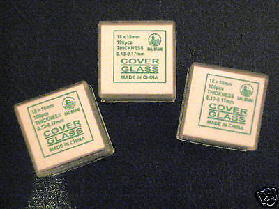 Microscope Slide Glass Cover Slips 18x18mm 100 qty New
