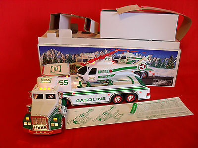 Hess Toy Truck and Helicoptor 1995 MIB All Electrics Tested