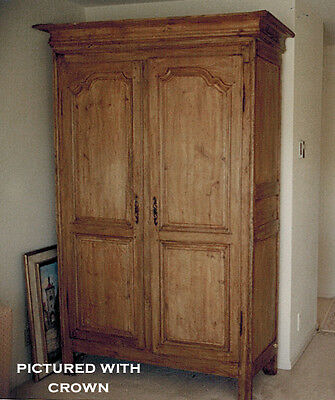 Antique French Armoire Wormy Chestnut