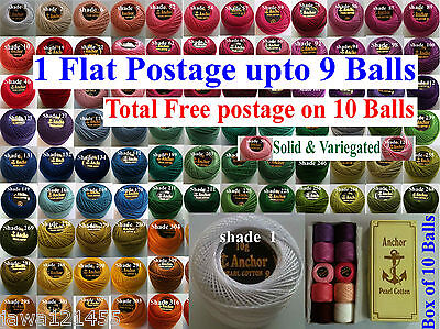 1 ANCHOR Pearl Cotton Crochet Embroidery Thread Ball.1 Flat Postage.