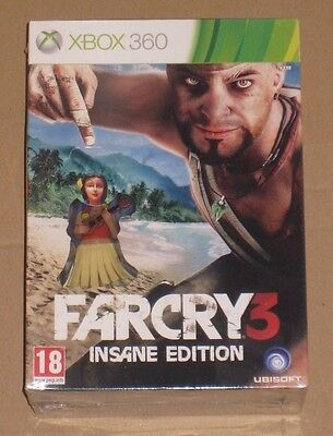 Far Cry 3 Insane Collectors Edition Xbox 360 PAL UK Sealed Limited Rare