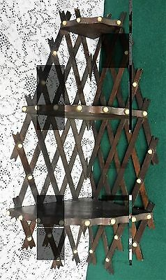 Antique Vintage 3 Shelf Lattice Back and Porcelain Tips