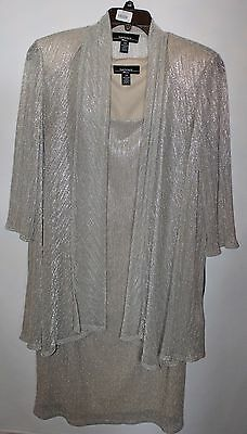 R&M Richards 2 pc Mother of Bride/Groom Evening Womens Shimmering Dress Gown