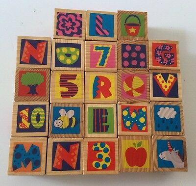 Wooden Blocks, Animals, Designs, Letters, Numbers, Objects, Baby Toddler