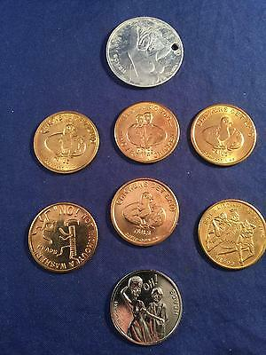 Vintage Sex Token LOT Brothel Whorehouse Beautiful Coupon Coins (ALL 8)
