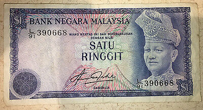 MALAYSIA 1 Ringgit Banknote World Money UNC Currency BILL Note p13b