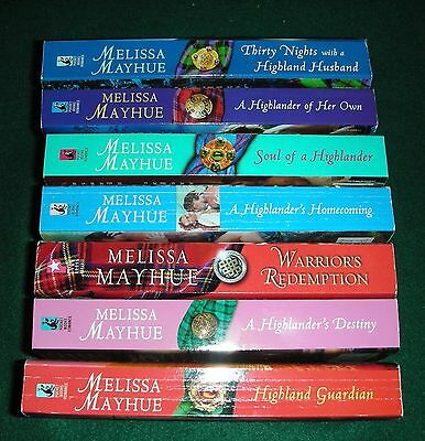 Lot of 7 by Melissa Mayhue - 1-6 of Highland Series + Warrior's Redemption