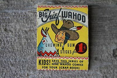 Big Chief Wahoo Chewing Gum Wrapper Matchbook Cover Style Advertising Rare
