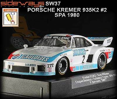 Sideways SW37 - Porsche 935 K2 - SPA 1980 - suits Scalextric slot car track