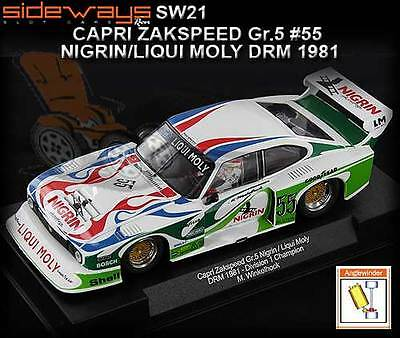 Sideways SW21 - Zakspeed Ford Capri DRM 1981 - suits Scalextric slot car track