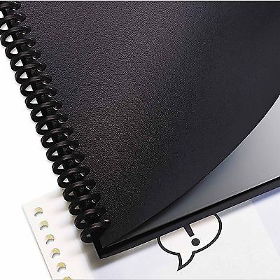 Swingline GBC Leather Look Binding System Covers, 11 X 8-1/2, Black, 200