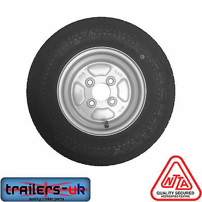 Trailer Wheel & Tyre 145 80 R10, PCD 4 on 100mm - *FREE DELIVERY*