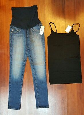 AG Jeans Secret Fit Belly The Legging Ankle Medium Wash Maternity & Jeans Cami