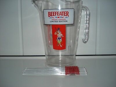 Beefeater Gin  pitcher jug inside london ltd  edt + 5 stirrers  brand new