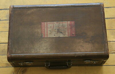 Chinese China Antique Suitcase Leather