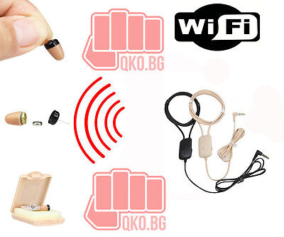 New Spy Nano Earpiece+ skin colored INDUCTION NECKLOOP for exam cheating