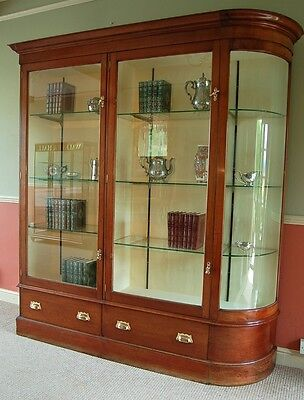 Antique Mahogany Shop Display Cabinet Circa 1880