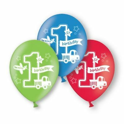 6pk All Aboard Latex Balloons Baby 1st Birthday Party Decorations