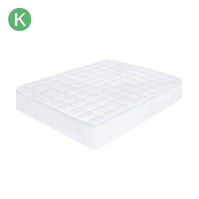 Manchester - Crestell KING BED Pure Cotton Mattress Protector - FITTED - NEW.
