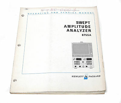 Manual Hewlett Packard HP 8755A Swept Amplitude Analyzer, Operation & Service