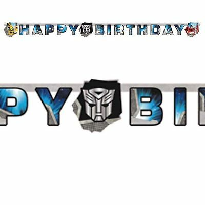 Transformers Letter Banners 1.65m x 12cm Childrens Birthday Party Decorations