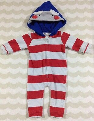 Seed Baby Boys Hooded Romper Size 0-3 Months