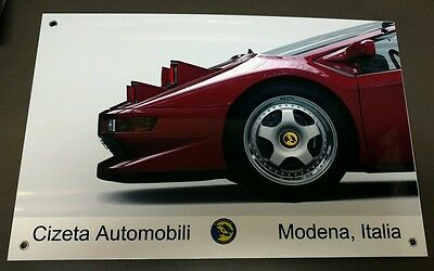 Cizeta v16 large metal sign ...Rare