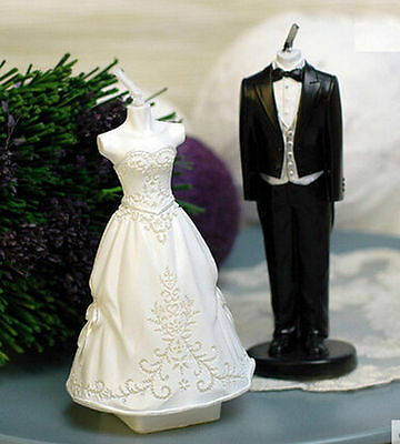 Candle Molds WEDDING DRESS BRIDE & GROOM, SILICON CANDLE MOLD
