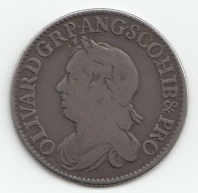 Very Rare 1658 Oliver Cromwell One Shilling Coin 1/-