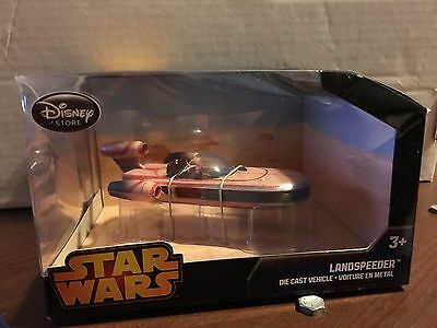 "Disney Store STAR WARS /""LANDSPEEDER/"" Deluxe Die Cast Vehicle Brand New Sealed"