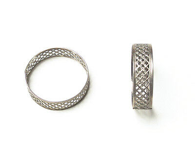 genuine vintage boxed silver plate napkin rings